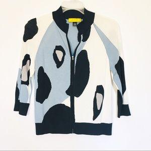 ST. JOHN Womens Cardigan Sweater Wool blend